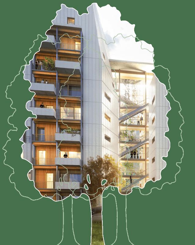Le Haut-Bois immeuble nature